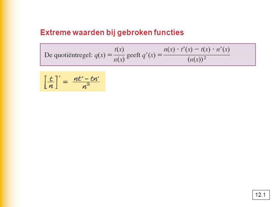Extreme waarden bij gebroken functies
