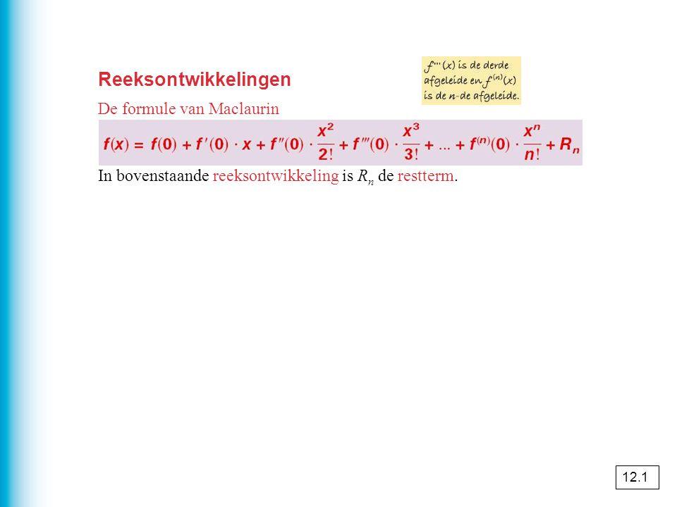 Reeksontwikkelingen De formule van Maclaurin
