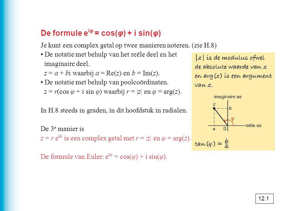 De formule eiφ = cos(φ) + i sin(φ)