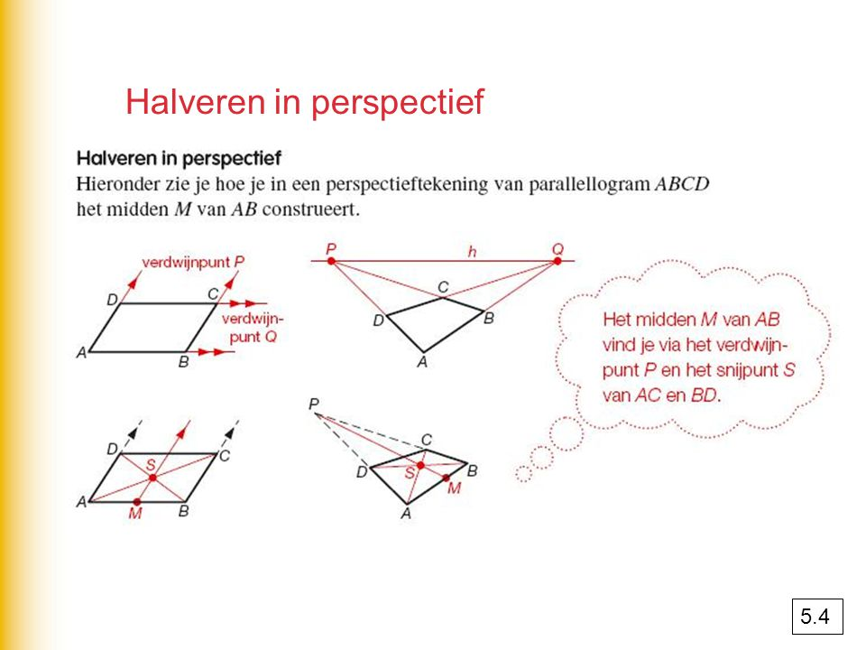 Halveren in perspectief