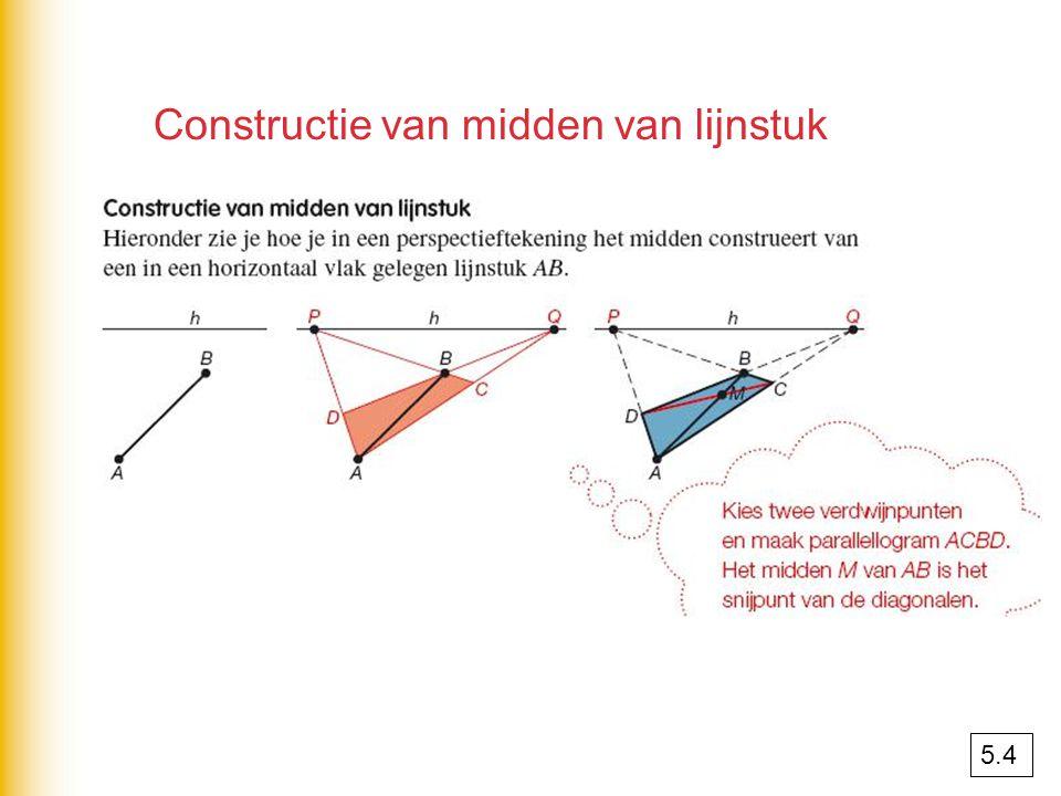 Constructie van midden van lijnstuk
