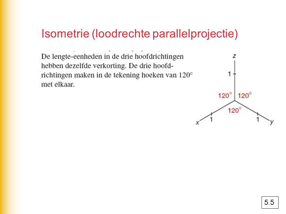 Isometrie (loodrechte parallelprojectie)