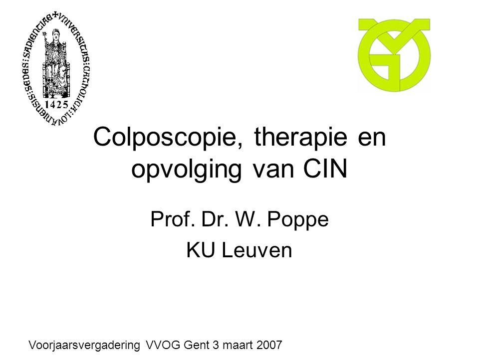 Colposcopie, therapie en opvolging van CIN