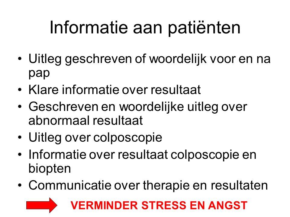 Informatie aan patiënten