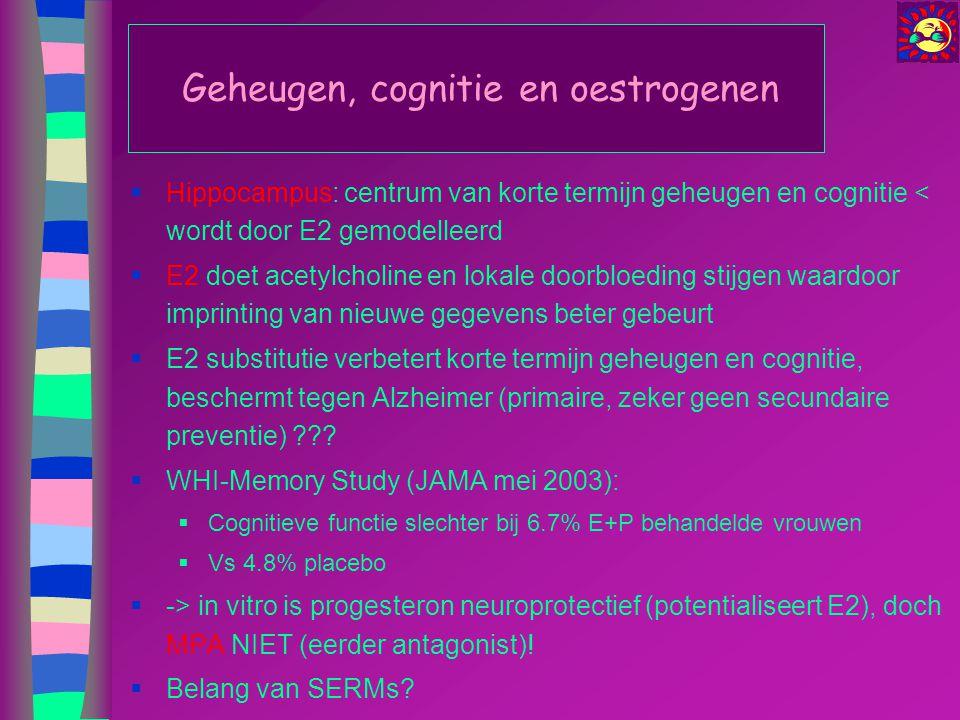 Geheugen, cognitie en oestrogenen