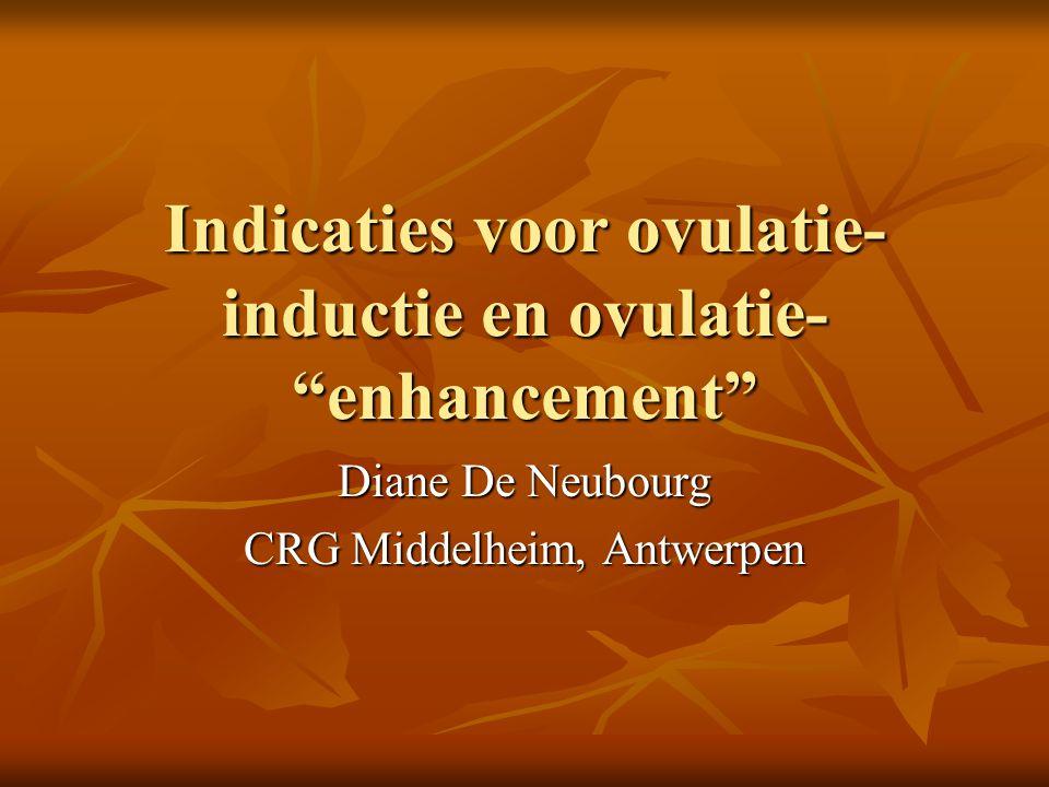 Indicaties voor ovulatie-inductie en ovulatie- enhancement