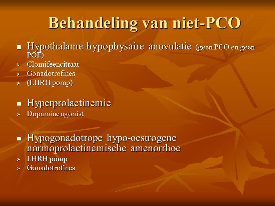 Behandeling van niet-PCO