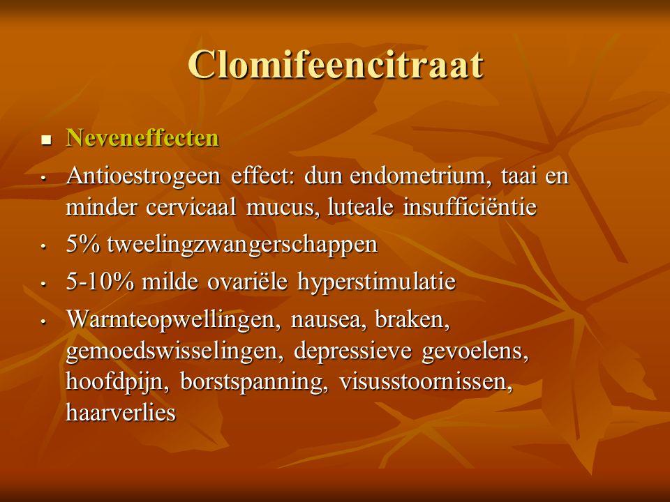 Clomifeencitraat Neveneffecten