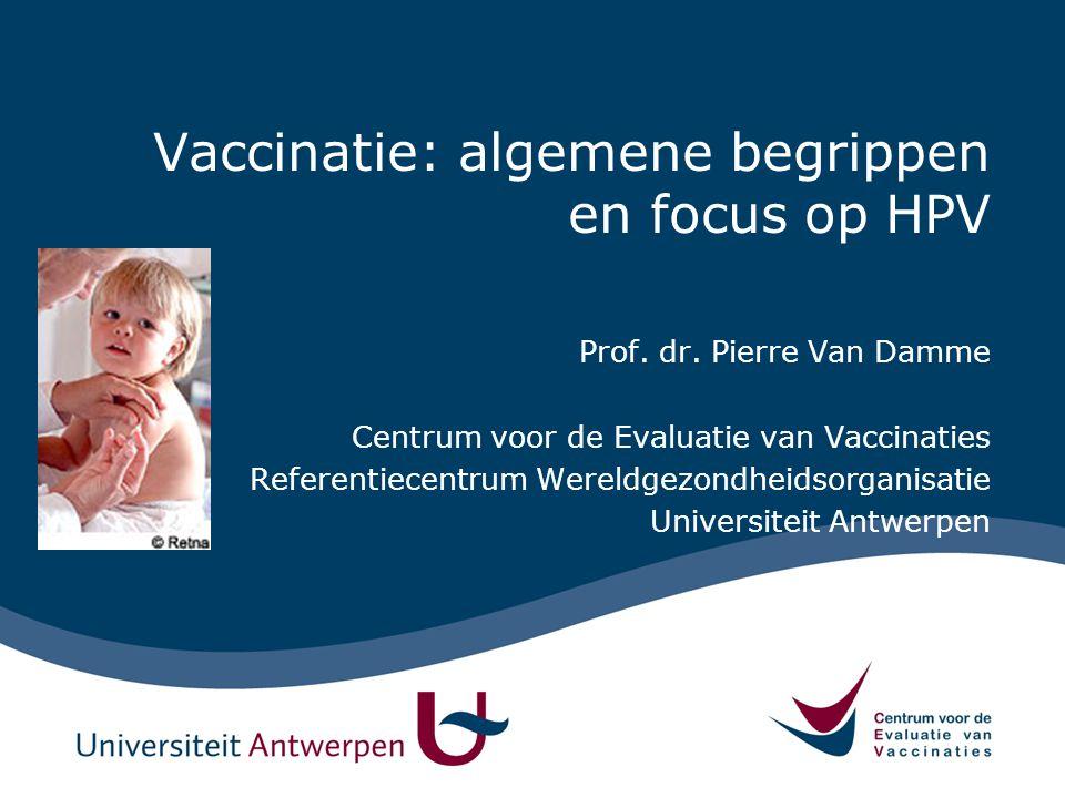 Vaccinatie: algemene begrippen en focus op HPV