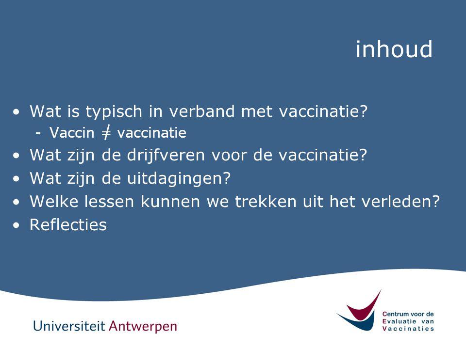 inhoud Wat is typisch in verband met vaccinatie