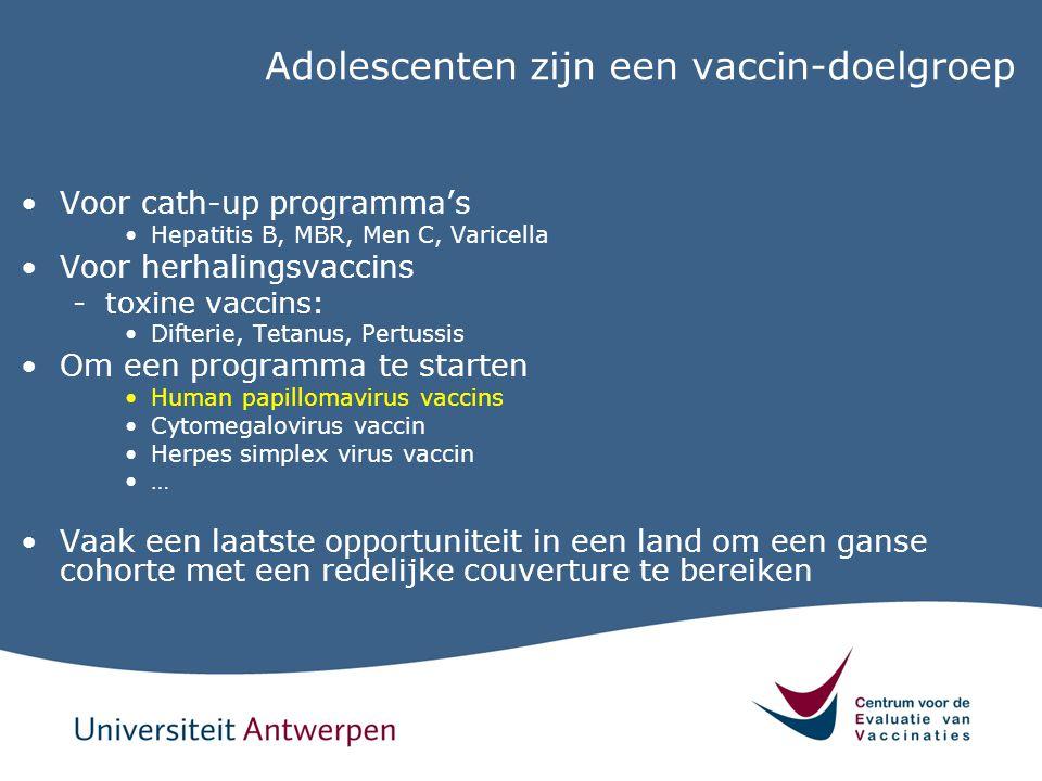 Adolescenten zijn een vaccin-doelgroep