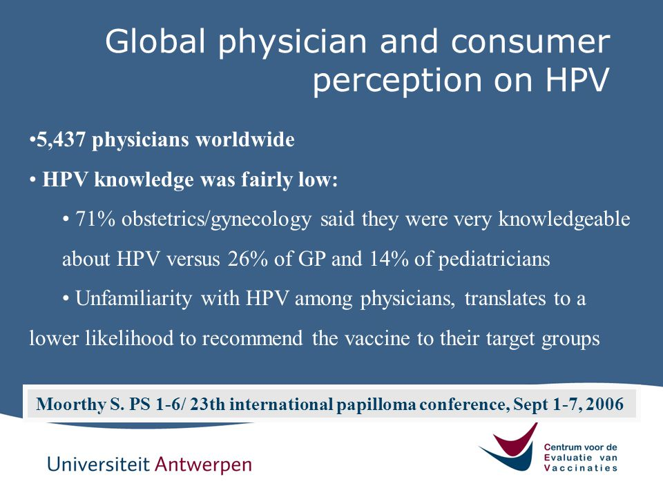Global physician and consumer perception on HPV