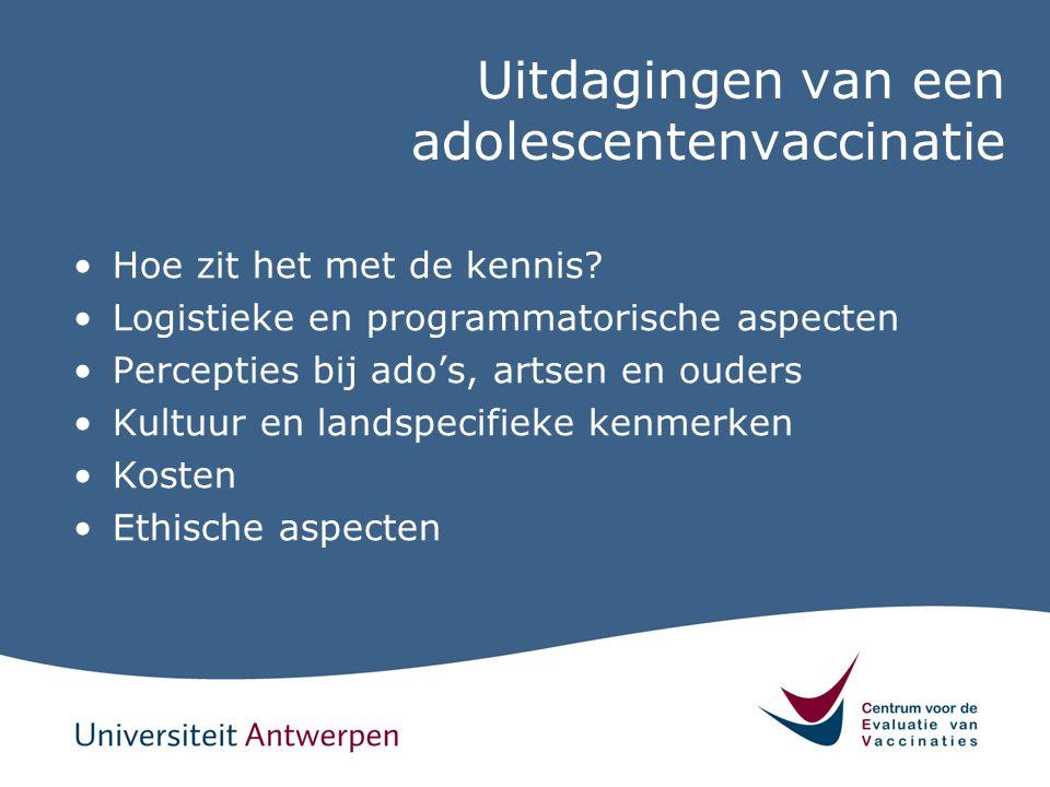 Uitdagingen van een adolescentenvaccinatie