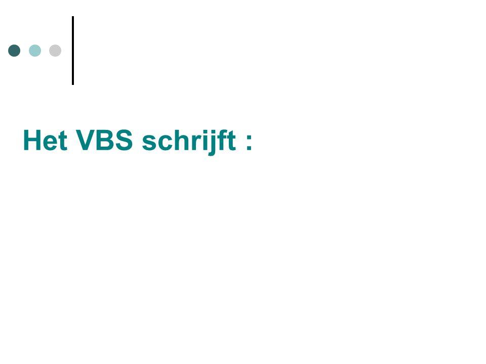 Het VBS schrijft :