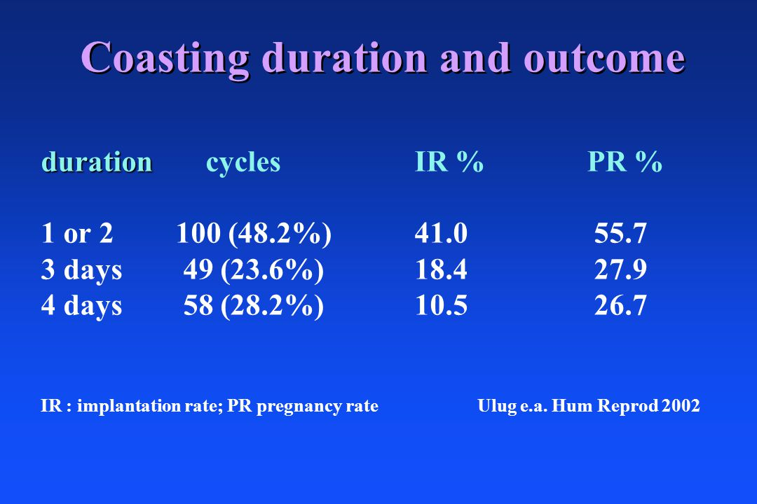 Coasting duration and outcome