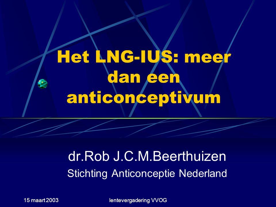 Het LNG-IUS: meer dan een anticonceptivum