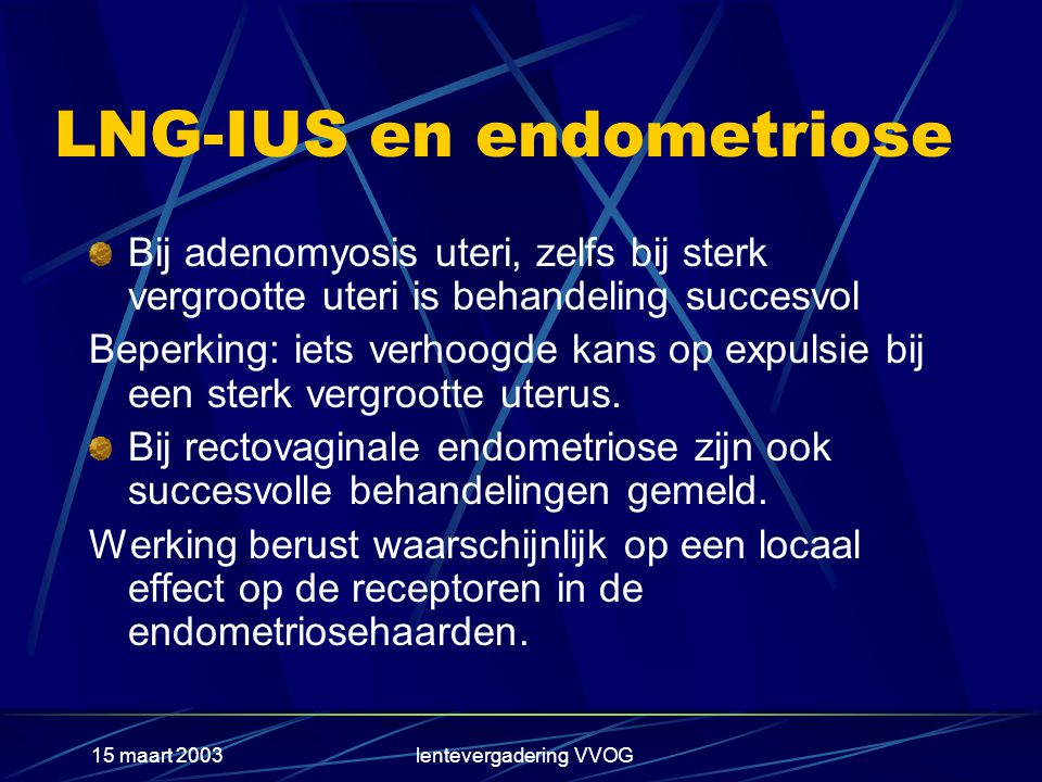 LNG-IUS en endometriose