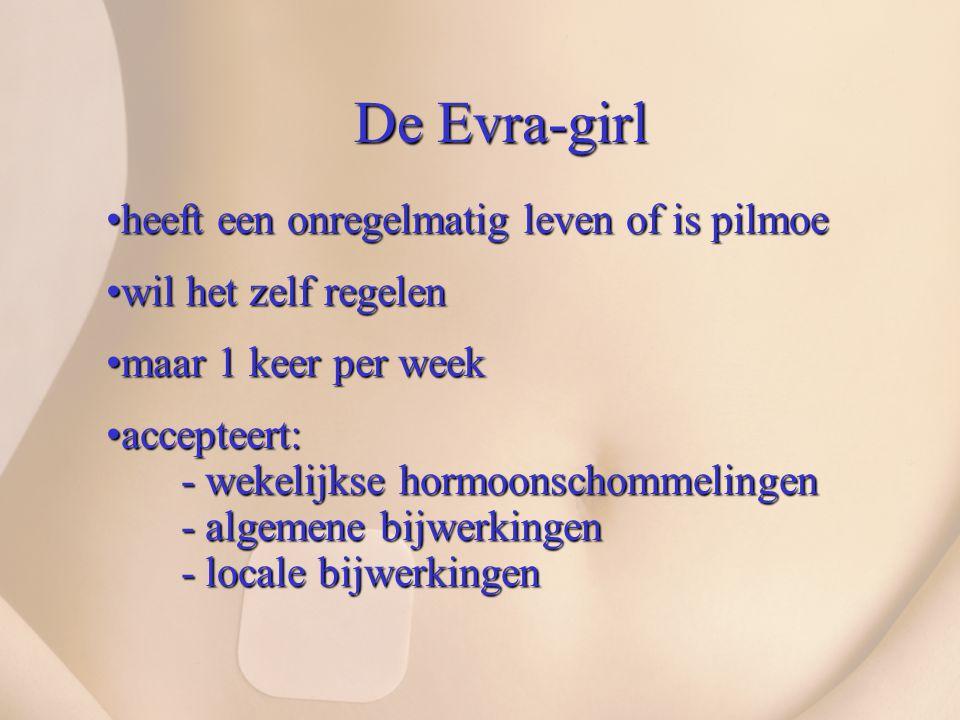 De Evra-girl heeft een onregelmatig leven of is pilmoe