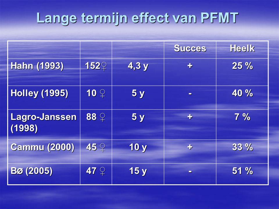 Lange termijn effect van PFMT