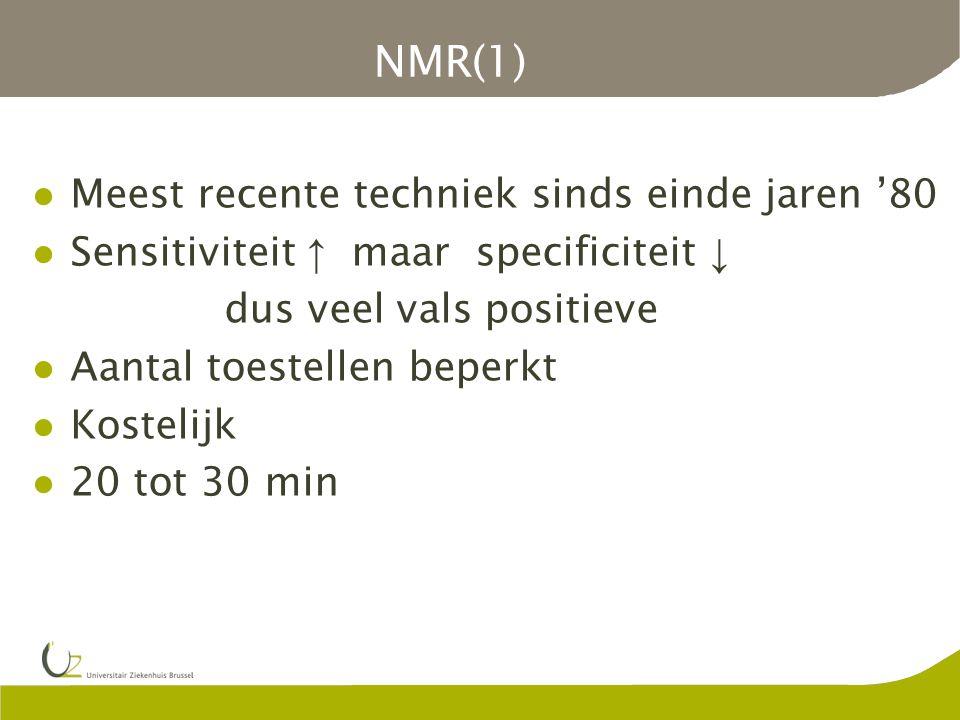NMR(1) Meest recente techniek sinds einde jaren '80