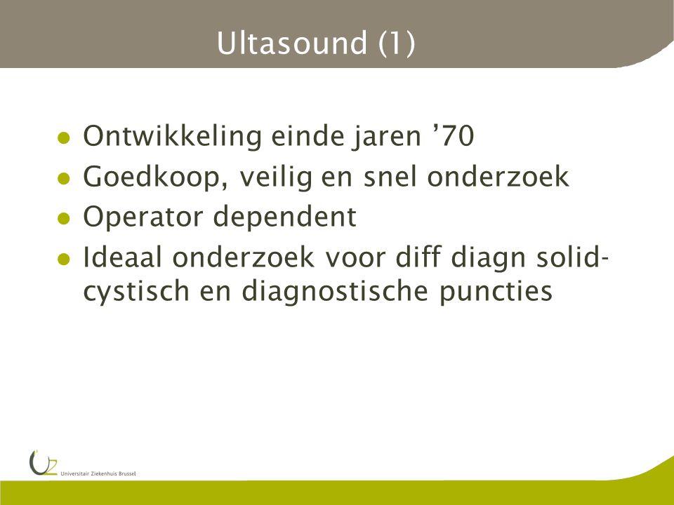 Ultasound (1) Ontwikkeling einde jaren '70