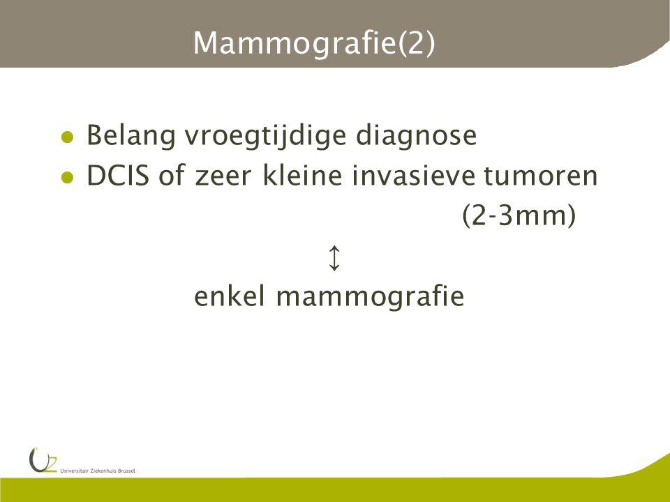 Mammografie(2) Belang vroegtijdige diagnose