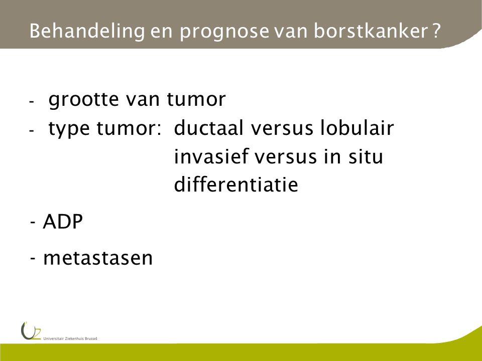 Behandeling en prognose van borstkanker