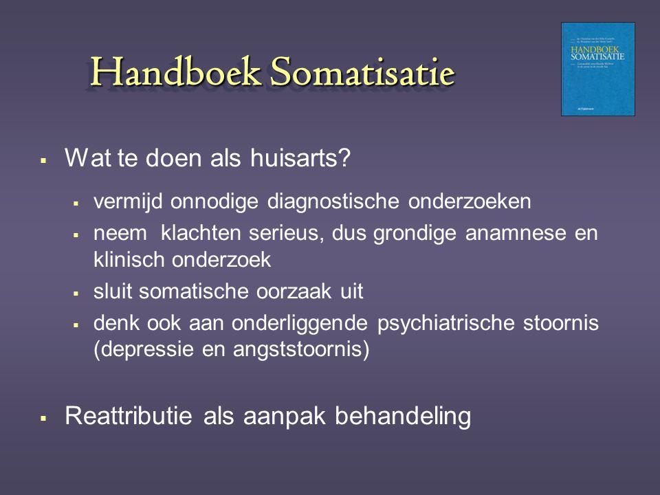 Handboek Somatisatie Wat te doen als huisarts