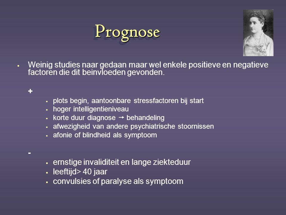 Prognose Weinig studies naar gedaan maar wel enkele positieve en negatieve factoren die dit beinvloeden gevonden.