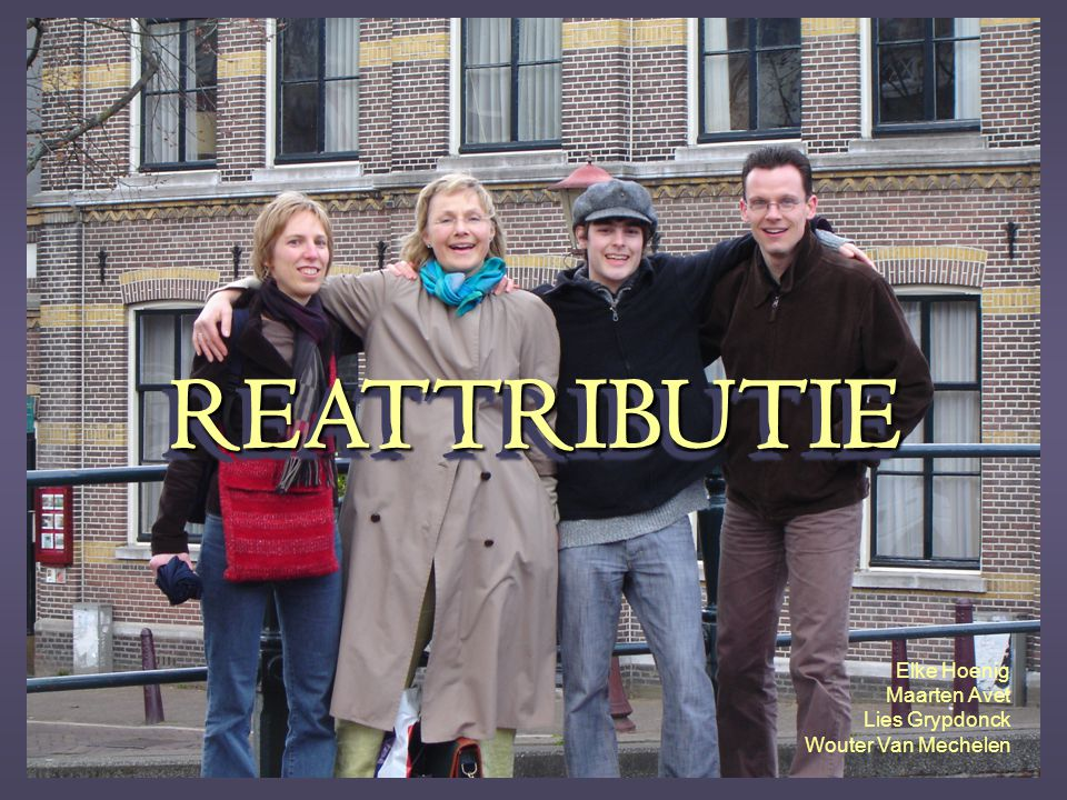 REATTRIBUTIE Elke Hoenig Maarten Avet Lies Grypdonck