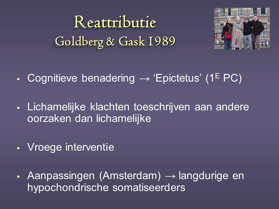 Reattributie Goldberg & Gask 1989