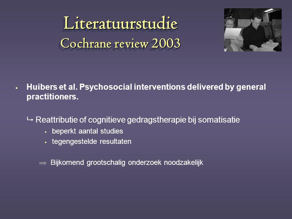 Literatuurstudie Cochrane review 2003