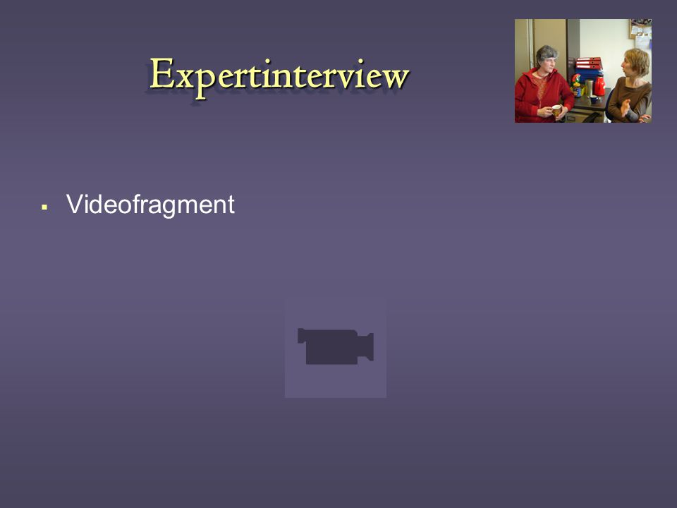 Expertinterview Videofragment