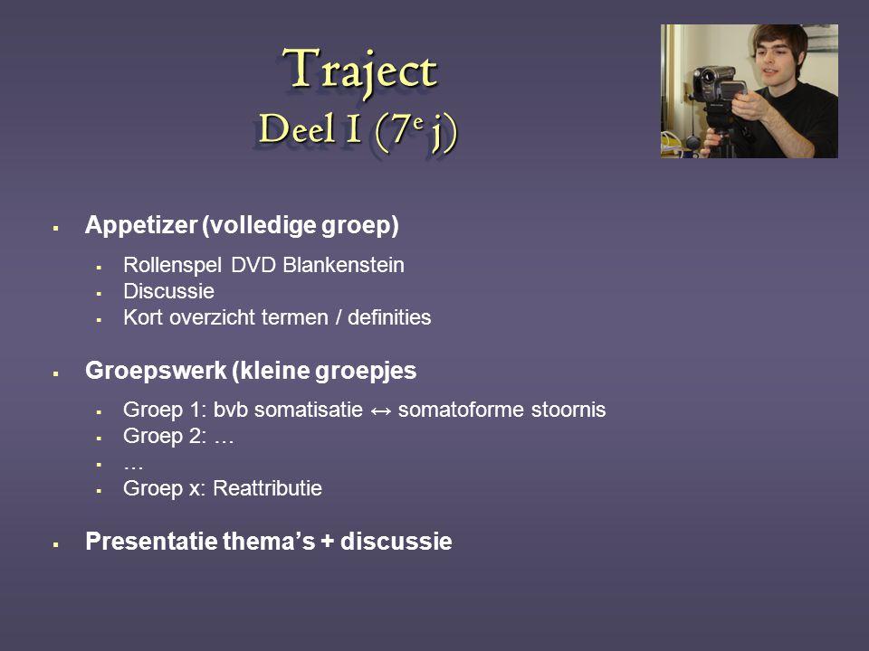 Traject Deel 1 (7e j) Appetizer (volledige groep)
