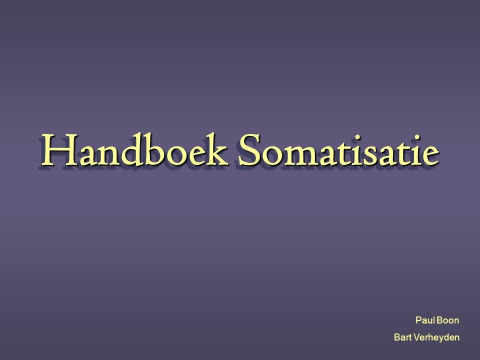 Handboek Somatisatie Paul Boon Bart Verheyden