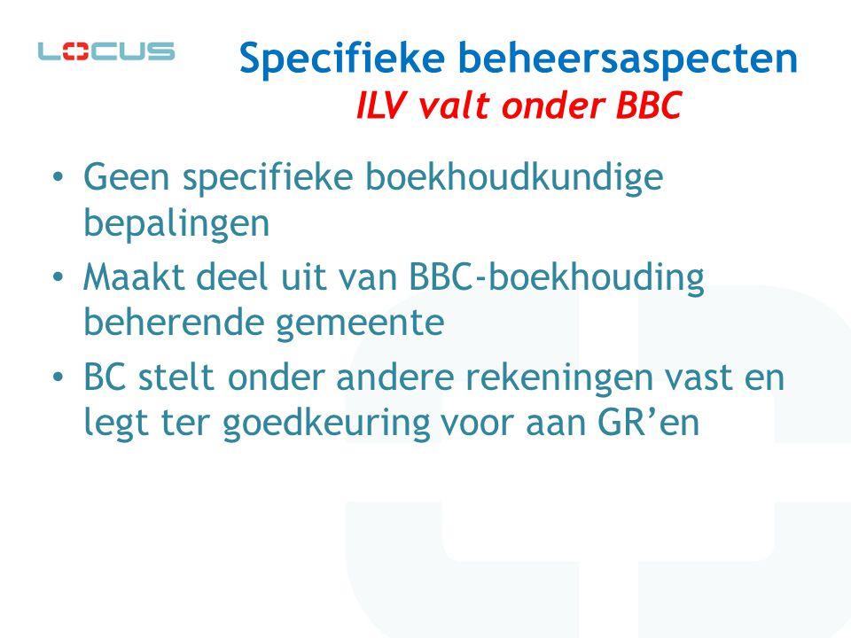 Specifieke beheersaspecten ILV valt onder BBC