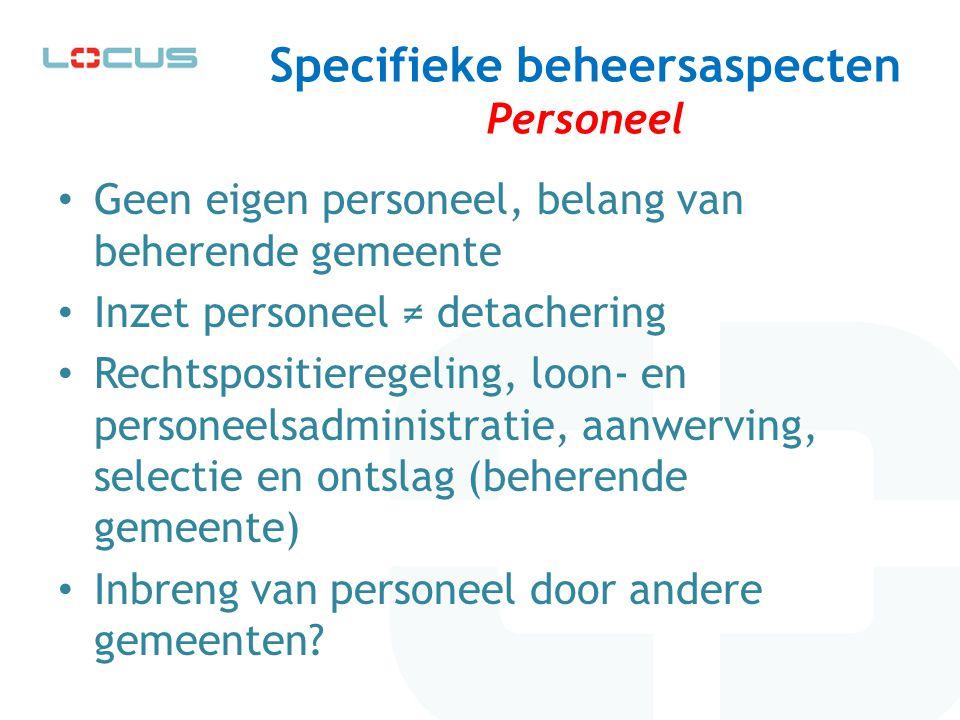 Specifieke beheersaspecten Personeel