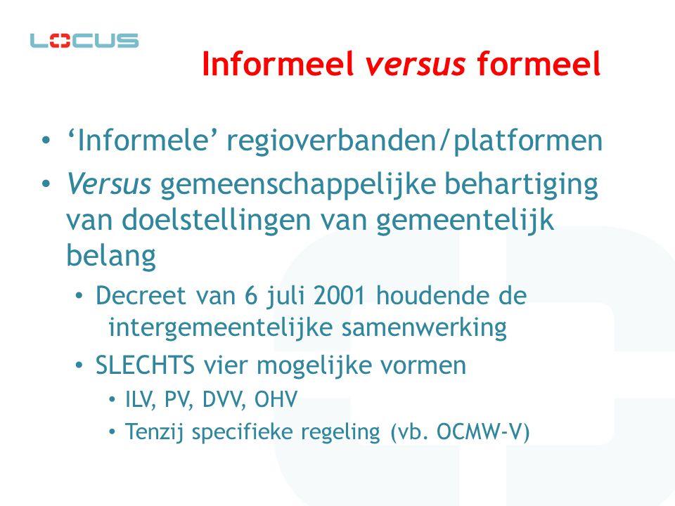 Informeel versus formeel