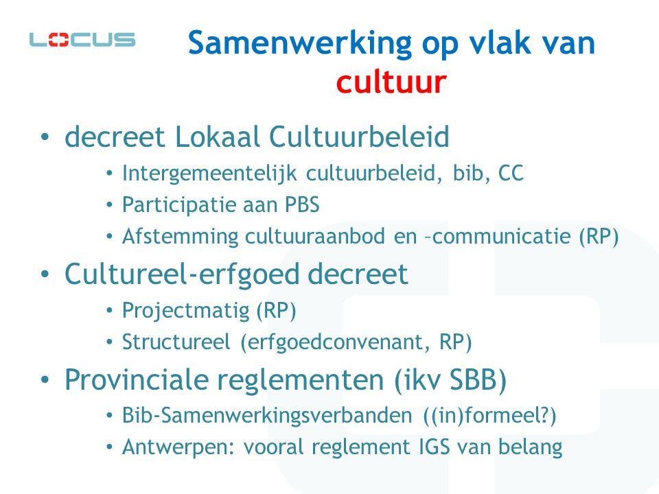 Samenwerking op vlak van cultuur