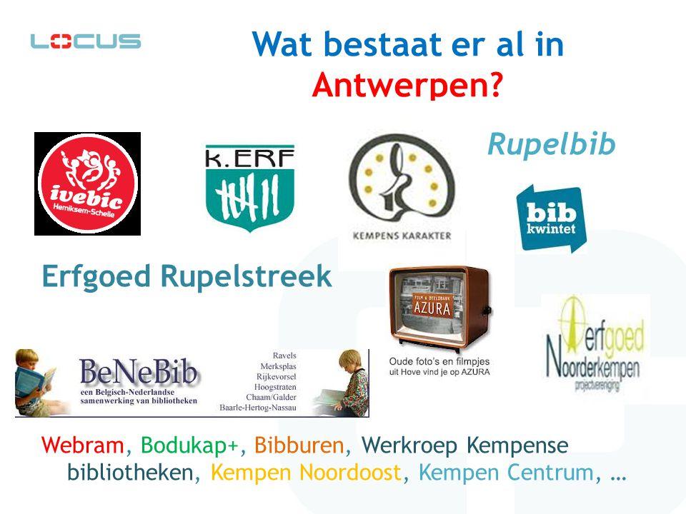 Wat bestaat er al in Antwerpen