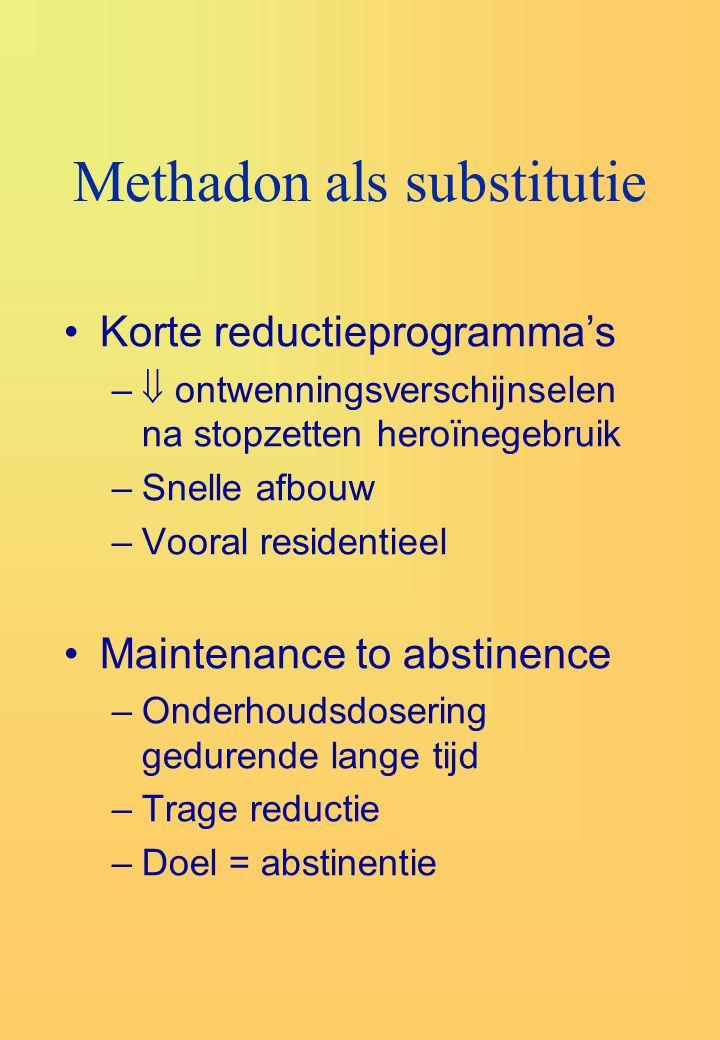 Methadon als substitutie