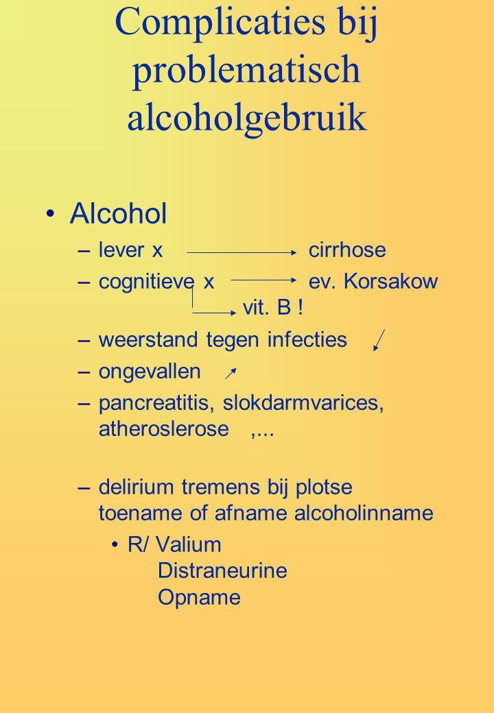 Complicaties bij problematisch alcoholgebruik