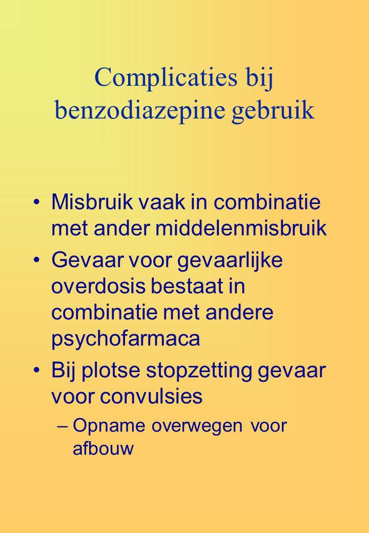 Complicaties bij benzodiazepine gebruik