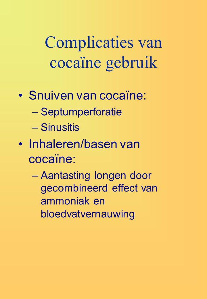 Complicaties van cocaïne gebruik