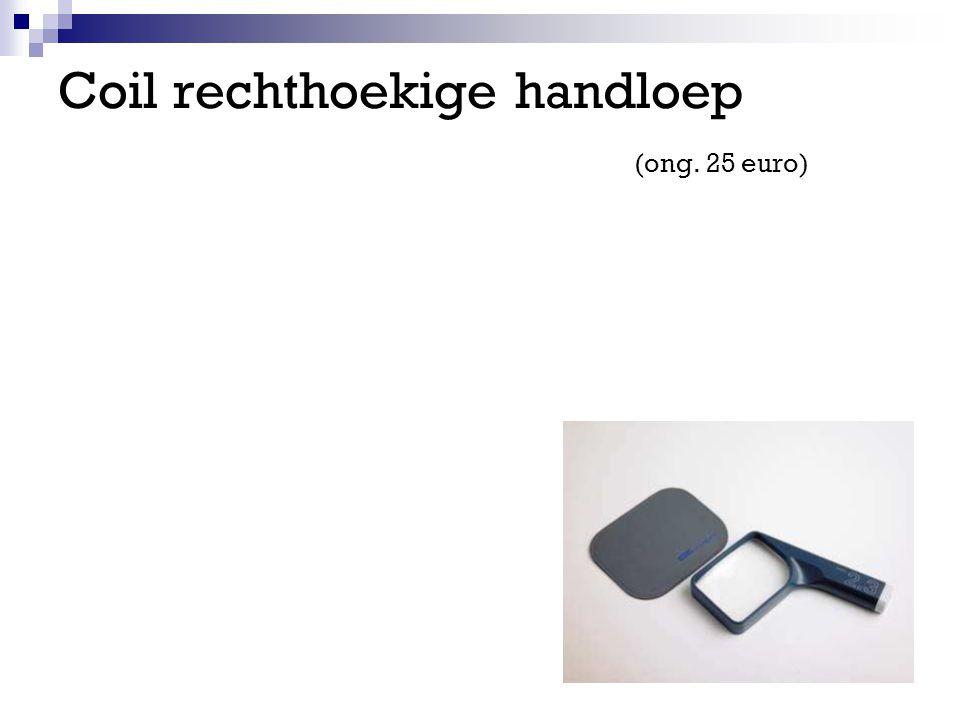 Coil rechthoekige handloep (ong. 25 euro)