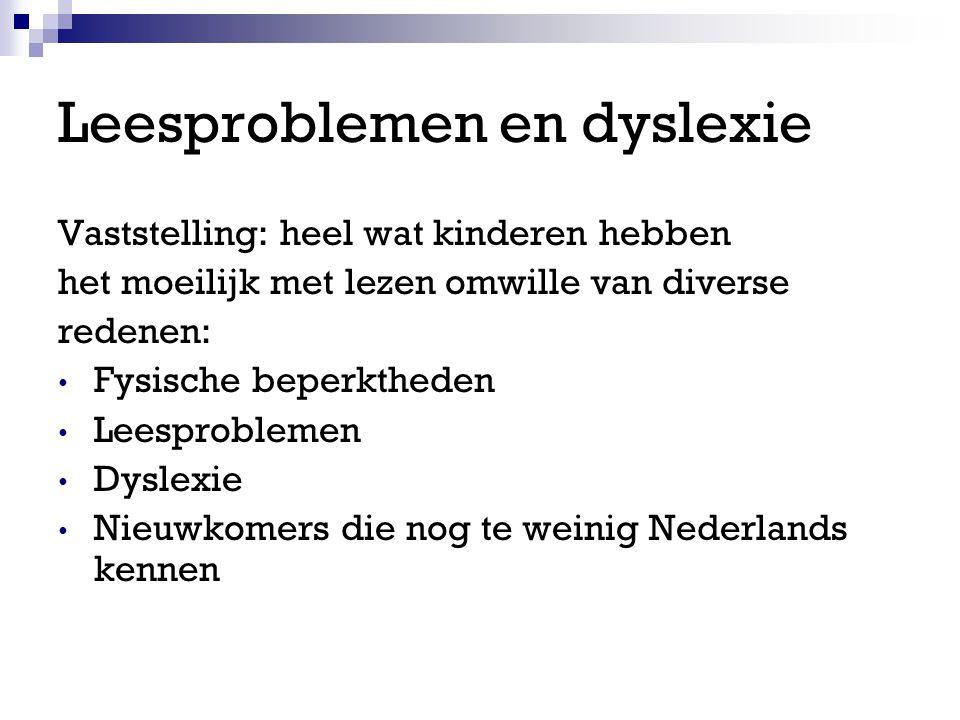 Leesproblemen en dyslexie