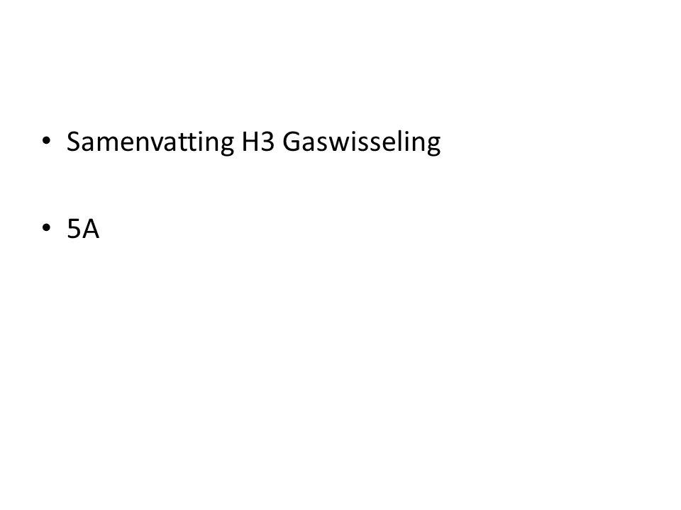 Samenvatting H3 Gaswisseling