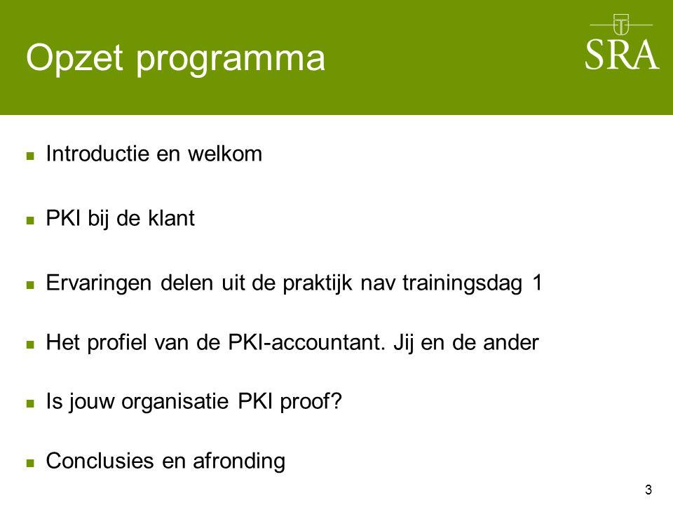 Opzet programma Introductie en welkom PKI bij de klant