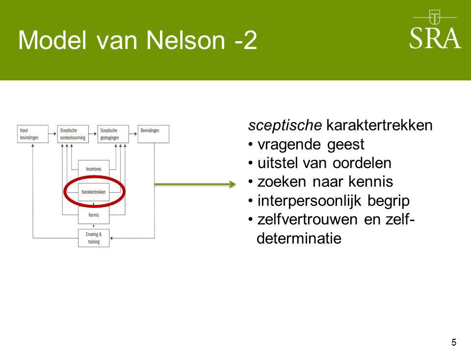 Model van Nelson -2 sceptische karaktertrekken vragende geest