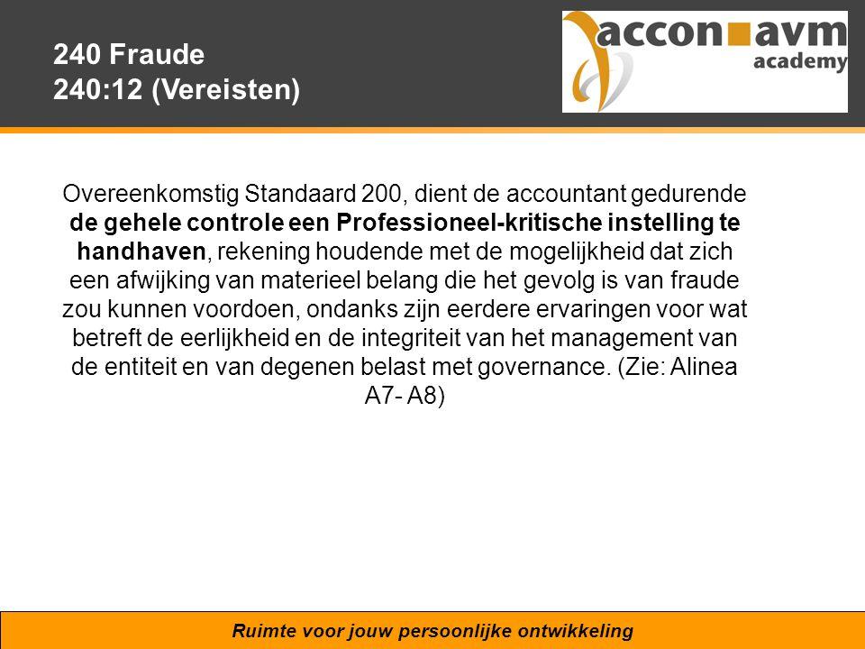 240 Fraude 240:12 (Vereisten)